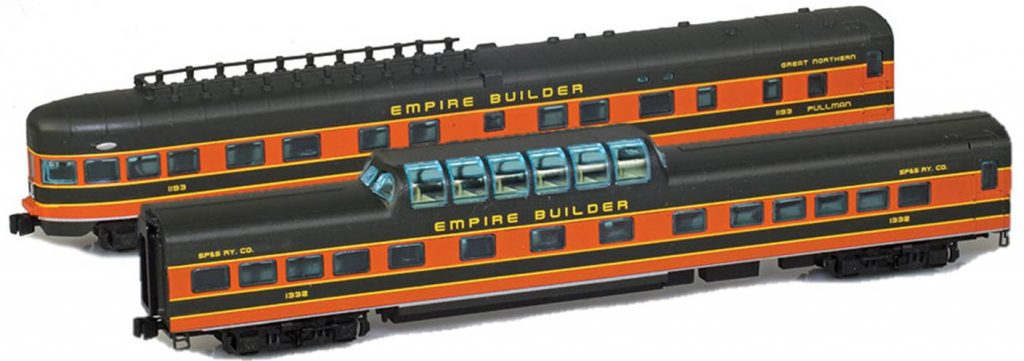 Great Northern z  scale passenger cars
