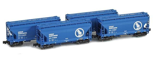 great northern z scale freight cars
